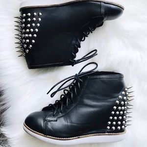 Jeffrey Campbell Edea Spiked Sneaker Wedge